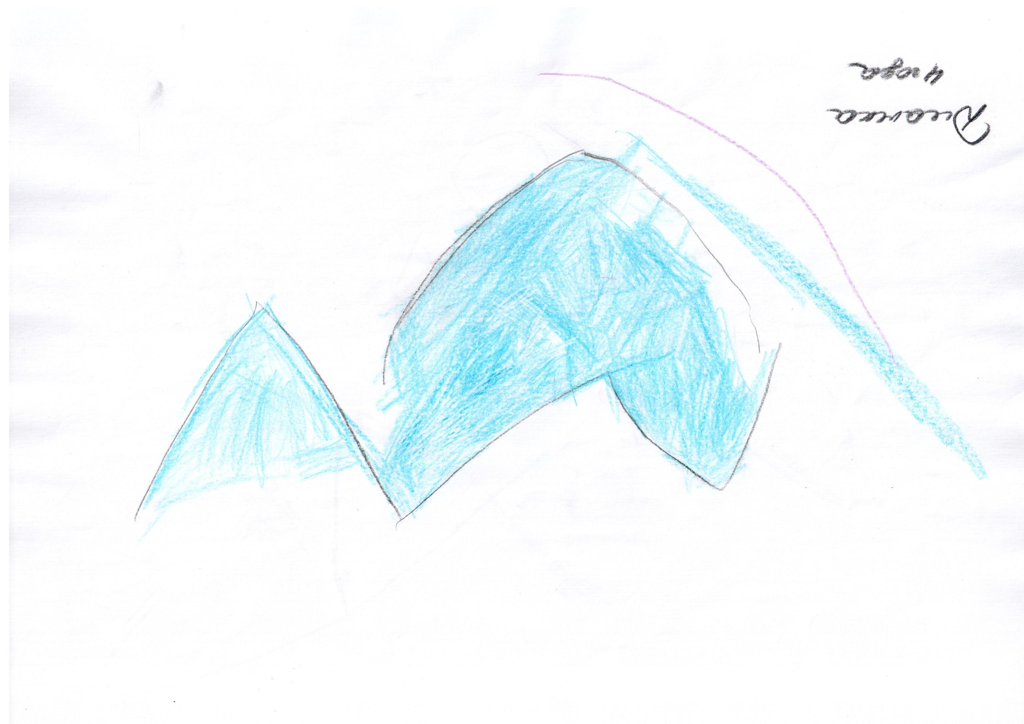 """Дианка, 4 года. Мы назвали эту работу """"Арарат в 3D""""."""