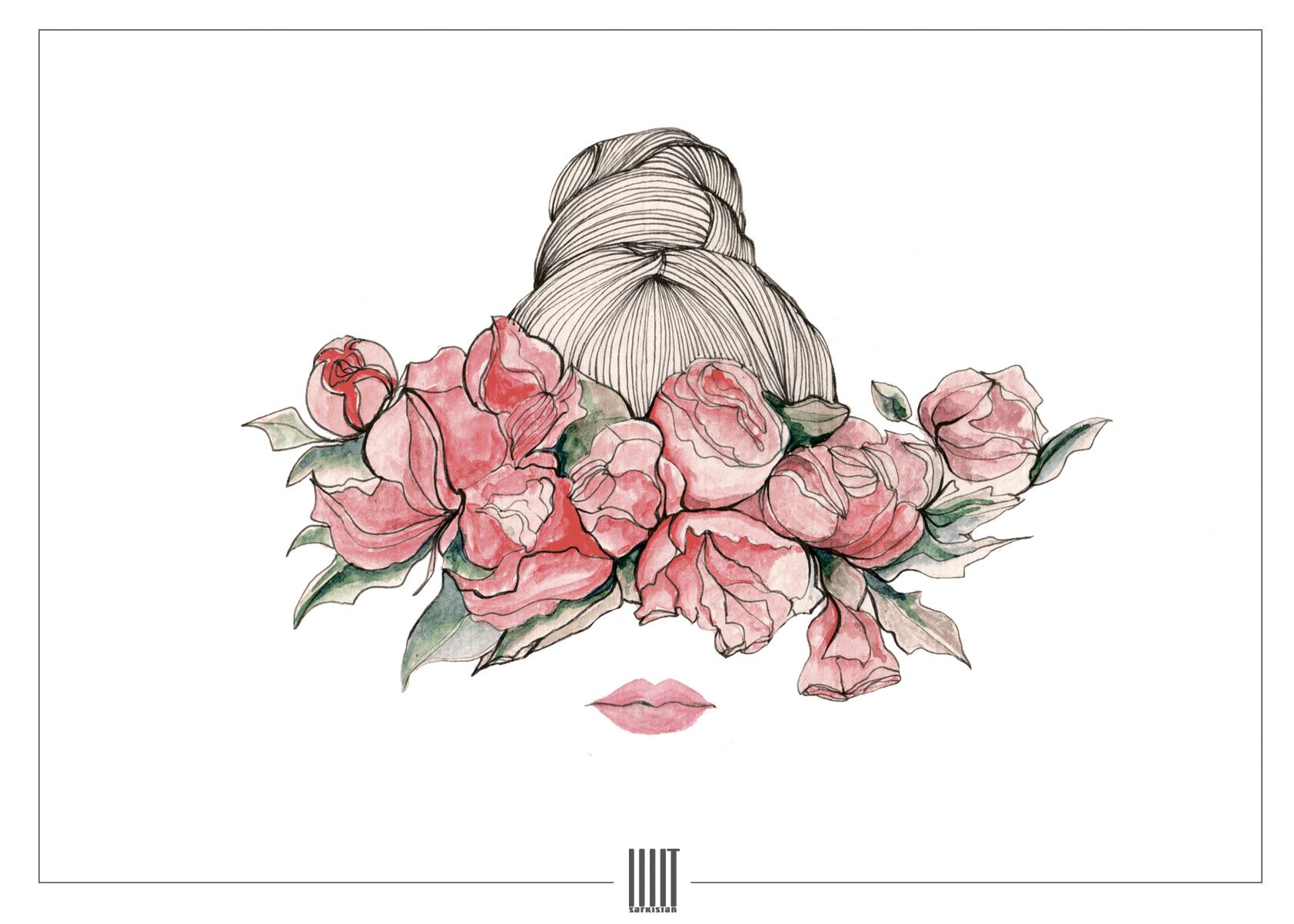 Принт из коллекции весна/лето 2016 FLOWER EYES COLLECTION by IIIIT SARKISIAN